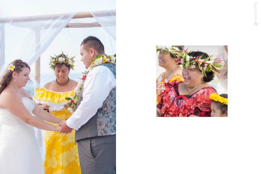 Escort. wedding ceremony photos Rarotonga, head ei, island wedding style, arch