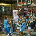 2014-02-53 -- Men's basketball vs. Elmhurst. Annual Pink Zone game.