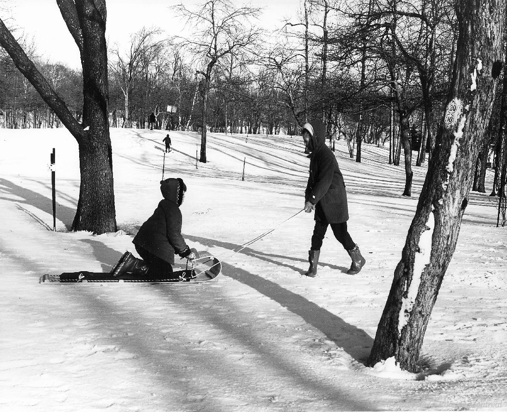 Sports d'hiver au Mont-Royal, 1961