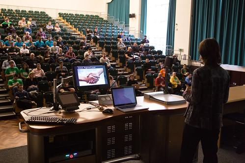Drupal Camp London 2014, Megan having her Keynote at Drupalcamp London