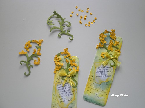 segnalibro mimosa
