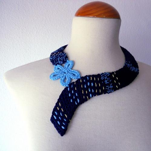 collar ondulado crochet