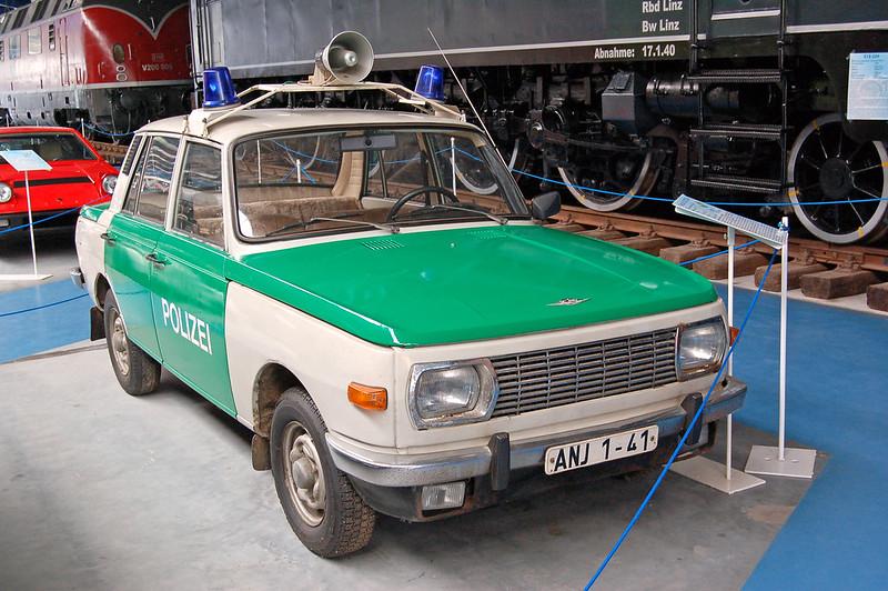 Eisenbahn- und Technik-Museum Rügen in Prora (46) - Wartburg 353 als Polizeifahrzeug