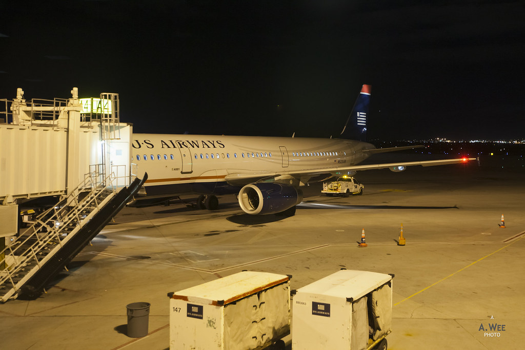 US Airways A321 at SLC airport