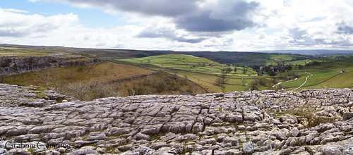 sky panorama cloud view dale cloudy pavement cove yorkshire national trust limestone lanscape dales malham yorkshiredales malhamcove