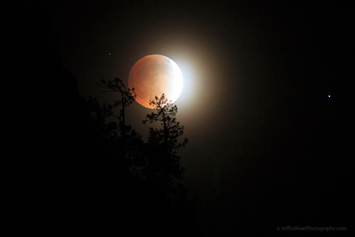 Lunar Eclipse over Yosemite Valley
