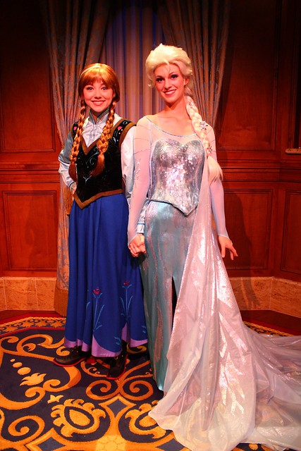 """Frozen"" Anna and Elsa at Magic Kingdom meet and greet"