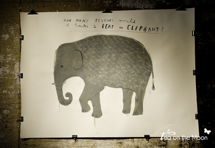 Oliver Jeffers THE EXPLODED MIND OF MULHOLLAND HWANG elephant