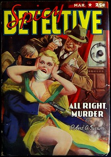 Spicy Detective Vol. 14, No. 5 (March, 1941). Cover by H. Parkhurst