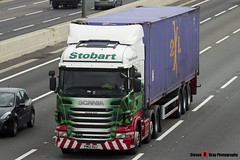 Scania R440 6x2 Tractor with 3 Axle Container Trailer - PN12 XUJ - Hannah Kate - Eddie Stobart - M1 J10 Luton - Steven Gray - IMG_5223