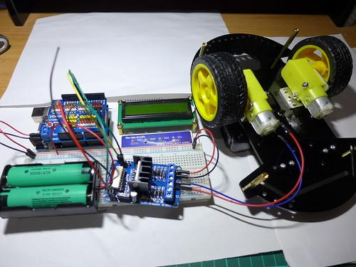 18650供電給Arduino&L298N
