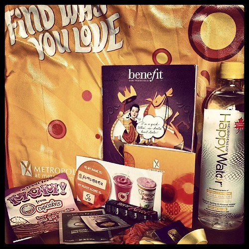 due diligence: a shout out to some of the awesome sponsors from last night's #METROPOLISxKLOUT - Purdys Chocolate, @benefitcanada, @metropolisatmet, L'Occitane, Orange Julius, Original Cupcakes and Happy Water
