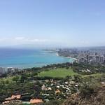 Blick auf Honolulu und Waikiki Beach