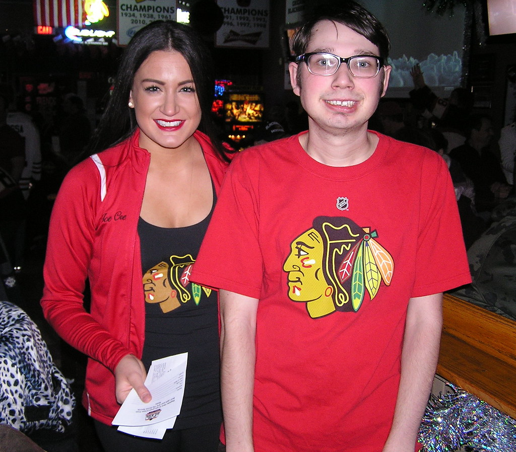 Chicago Blackhawks Ice Girl
