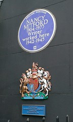 Photo of Nancy Mitford blue plaque