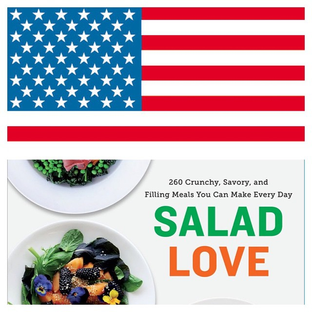 Off course the Americans love salads!!!! Buy it here. Salad Love: Crunchy, Savory, and Filling Meals You Can Make Every Day http://www.amazon.com/dp/0804186782/ref=cm_sw_r_tw_awdm_-6NZub0ZAQV1C #raw #salad #vegetarian #vegan  #happydesksalad #desklunch
