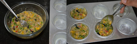 Vegetable quinoa muffins