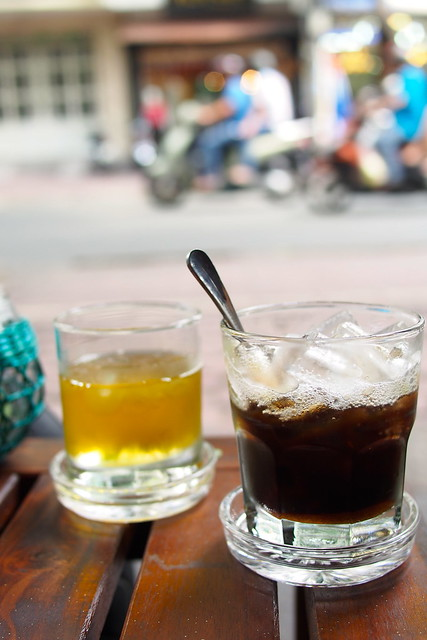 iced Vietnamese coffee, iced Vietnamese tea, Ho Chi Minh City (Saigon), Vietnam