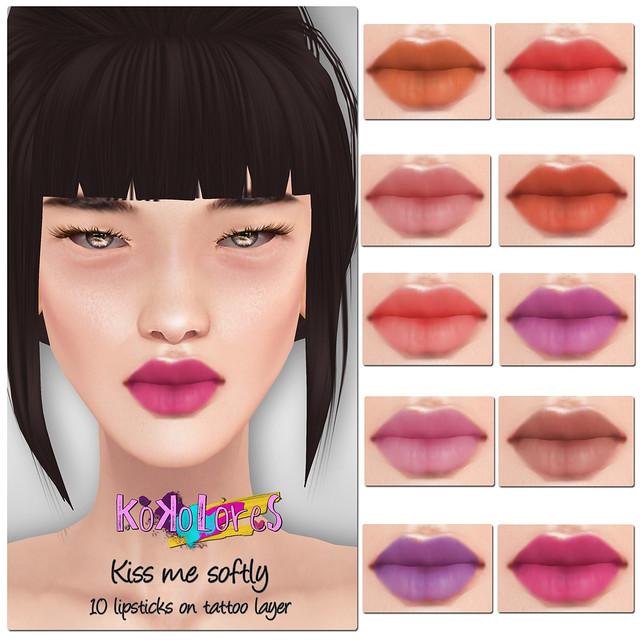 [KoKoLoReS]BP- Kiss me softly lipsticks