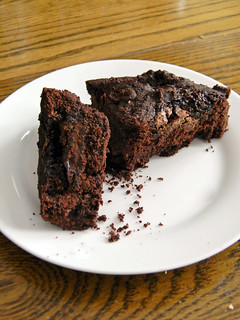 Teff Brownies with Grand Marnier Bonbons