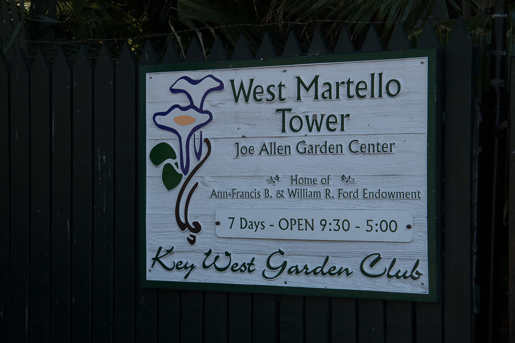 Entrance sign for West Martello Tower