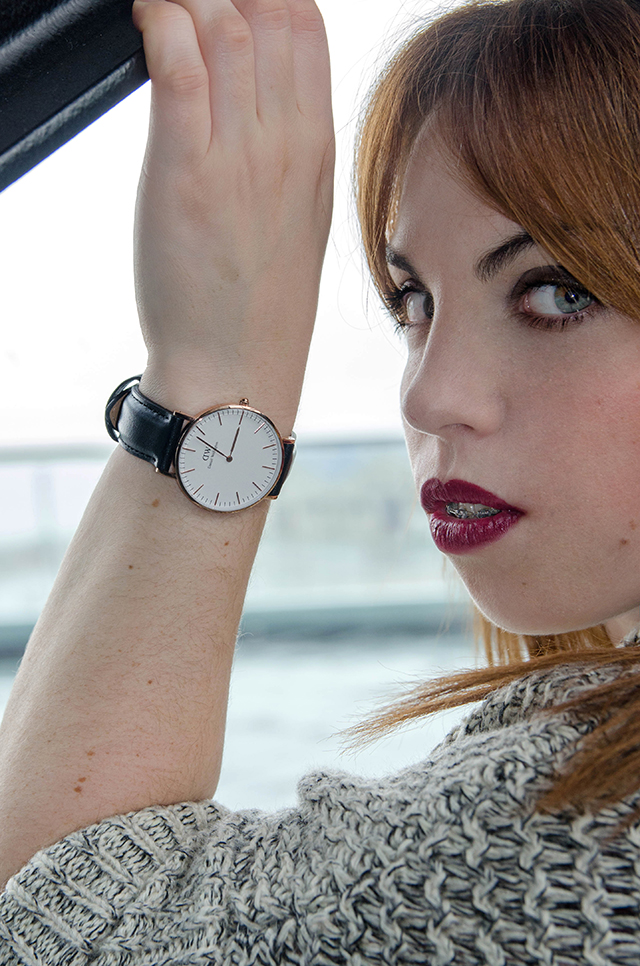 Look lady with Daniel Wellington watch