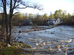 Vantaankoski Rapid in River Vantaanjoki(Vantaa, 20110501)