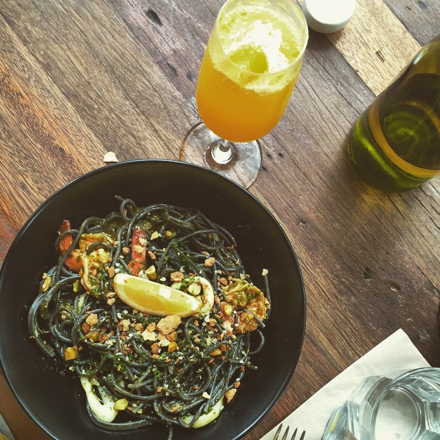 Been craving this forever: #WildFlour's squid ink pasta 😍😍😍