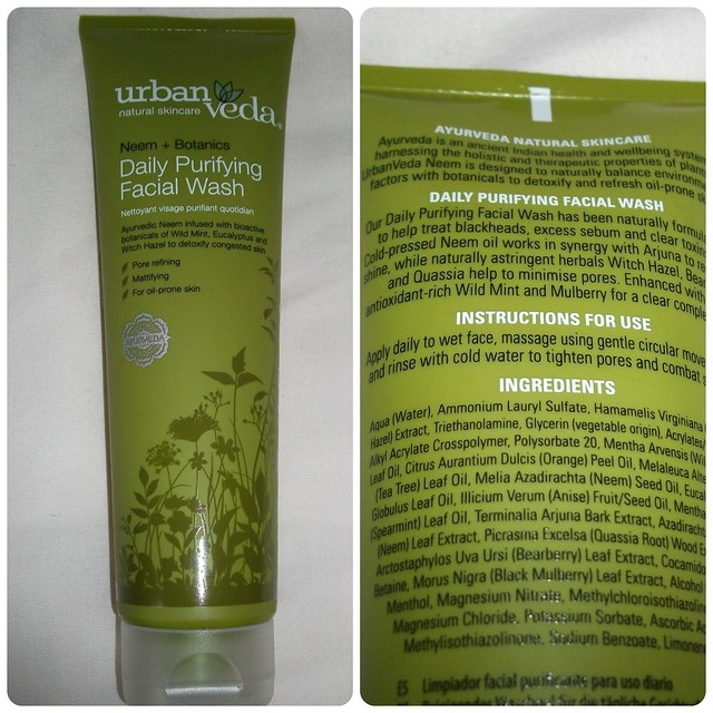 UrbanVeda Neem + Botanics Daily Purifying Facial Wash Review