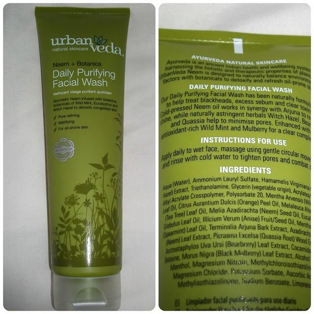 UrbanVeda Neem + Botanics Daily Purifying Facial Wash Review