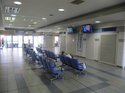 京都競馬場の4階のベンチ