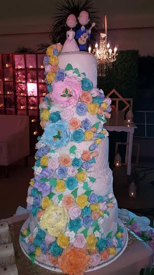Wedding Cake for Omar and Florillete. Made with 230pcs Handmade Rose Flowers by kokijo