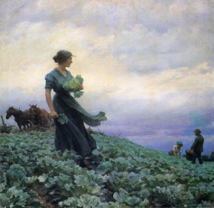 The Cabbage Field by Charles Courtney Curran - 1914