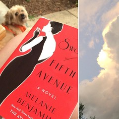 Not a bad night: reading on the porch while the storm rolls in. #booksofinstagram, #dogsofinstagram, #beautifulsky, #wishicouldpaint