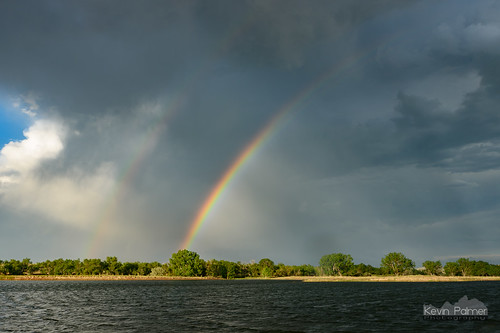 wyoming glenrock june summer evening nikond750 color colorful rainbow bigmuddypond water rain