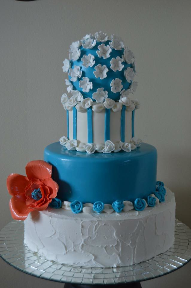 A Paris Inspired Can-Can Cake by Laura's Blue Ribbon Cakery LLC