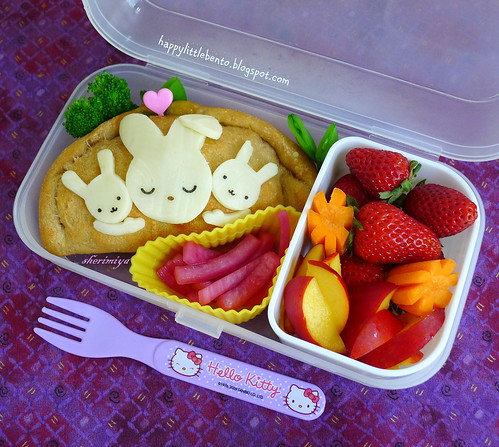 Mama Loves Her Bunnies Bento by sherimiya ♥