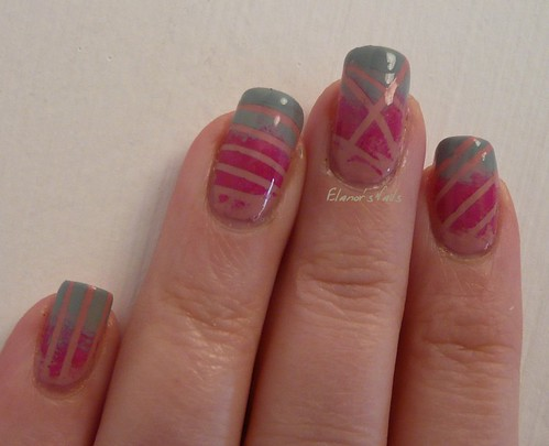 grey pink tape gradient 3