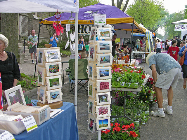 Judson Street Fest 2013 flowers and cards booth