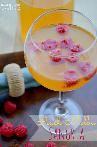 Peach Melba Sangria from Lemon Tree Dwelling