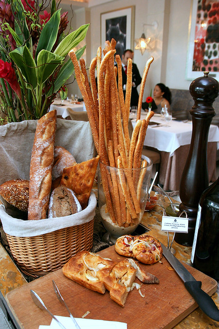 Bread section at La Brezza's Prosecco Brunch