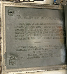 Photo of William A. Richardson and San Francisco bronze plaque