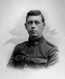 Sergeant Edward Michael Hanlon at the Armistice in Belgium, 1918