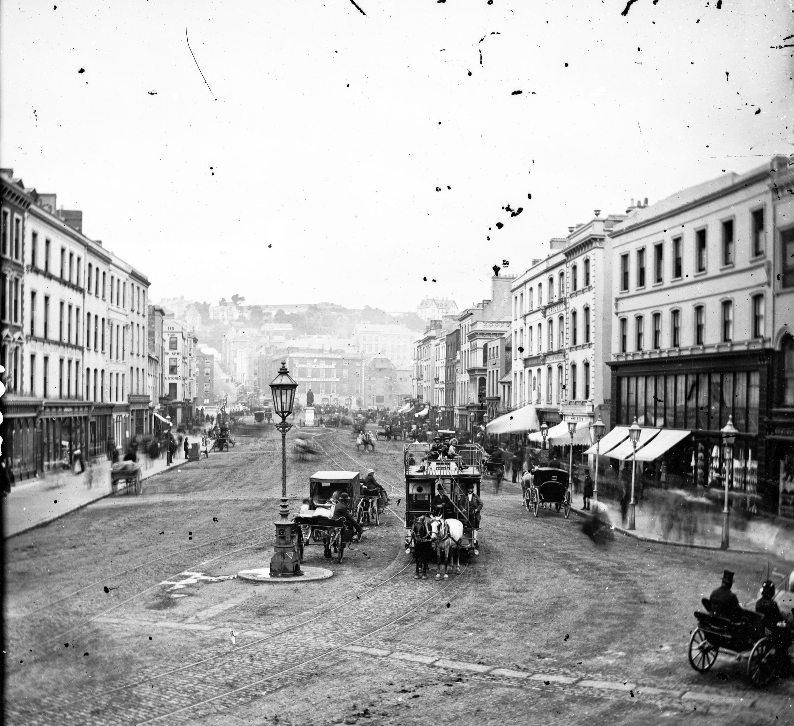Horse-drawn tram, Patrick Street, Cork