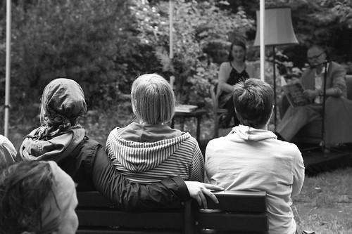 Lesung im Stadtgarten Connewitz 06/13