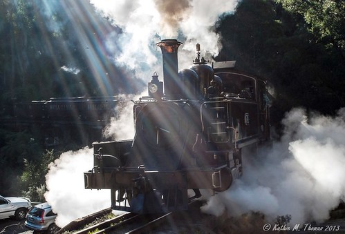 Puffing Billy in the midday sun