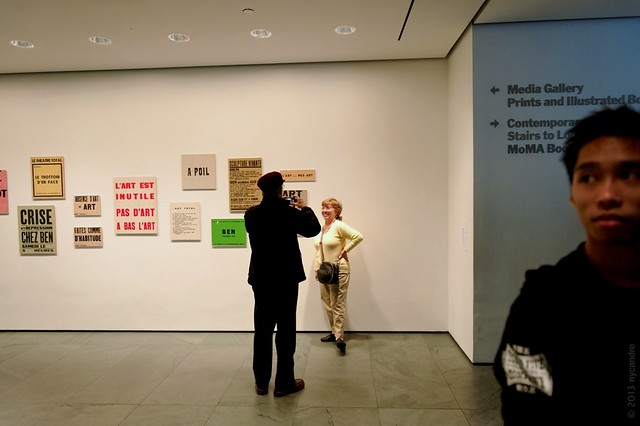 MoMA Fluxus sighting