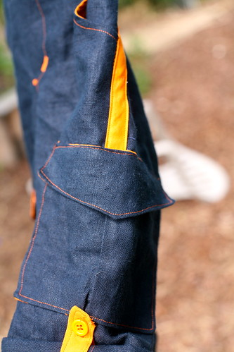 Coastal Cargos - pocket detail.