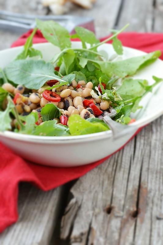 beans and ruccola salad.6