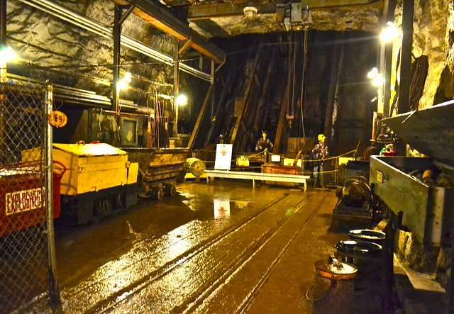 mine shafts and carts - mine tour
